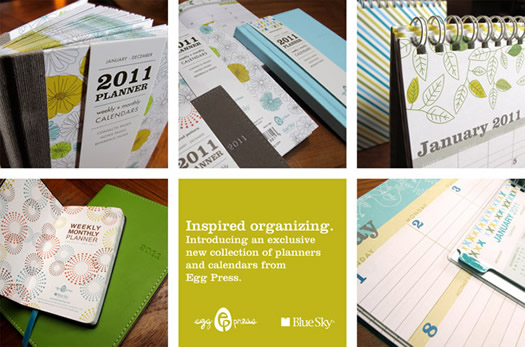Egg Press calendars and planners for Blue Sky