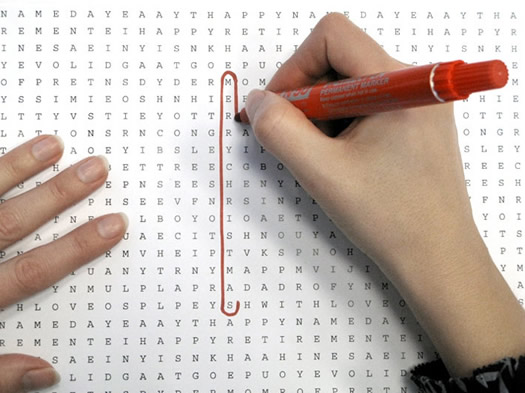 Word Search Wrapping Paper 5 via the Dieline